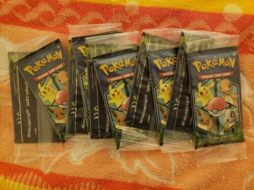NEW 10x SEALED General Mills Pokemon Cereal 3-Card Booster Packs !!