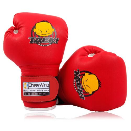 PU Leather Kids Boxing Gloves Children Cartoon Sparring Training Sandbag red