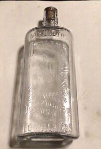 Vintage Rare 1800's My Doctor Blend Rye Whiskey Bottle Flask Embossed Bartender