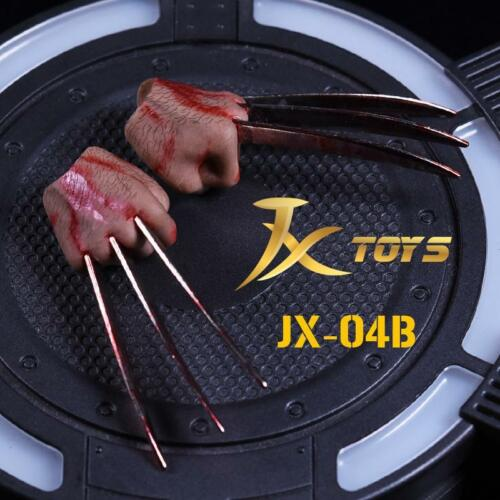 1//6 Wolverine Logan Metal Claw Blood Hands Realistic Hair For Hot Toys ❶USA❶