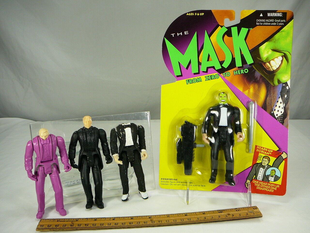 Kenner Prototype The Mask Jim Carrey Heads Up Dorian Painted Hard Copy Set