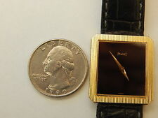 GENUINE PIAGET SOLID 18K YELLOW GOLD 25MM MEN'S PROTOCOLE POLO TANK MECHAMICAL