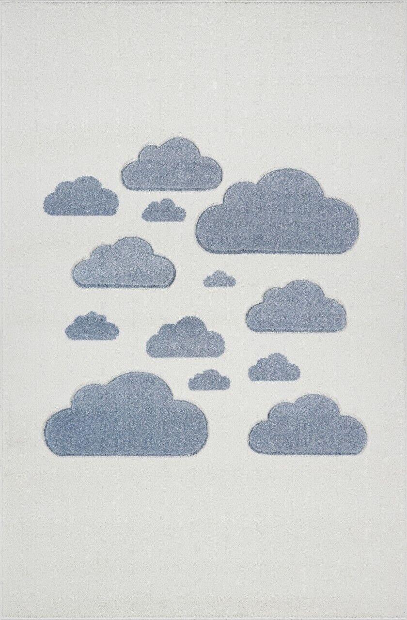 Enfants Tapis Chambre Enfant tapis de nuages Crème Bleu 120x170cm