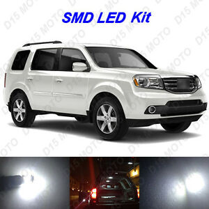 Details About 20 X White Led Interior Bulbs Tag Reverse Lights For 2006 2017 Honda Pilot