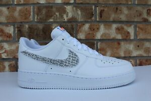 Details about Men's Nike Air Force 1 Low Just Do It Pack White Clear Black Size 12 BQ5361 100
