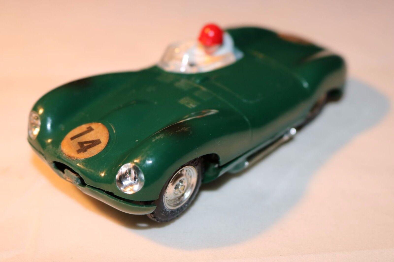 Tri-ang Scalextric autos de course miniature Jaguar D MM C.60 green near mint