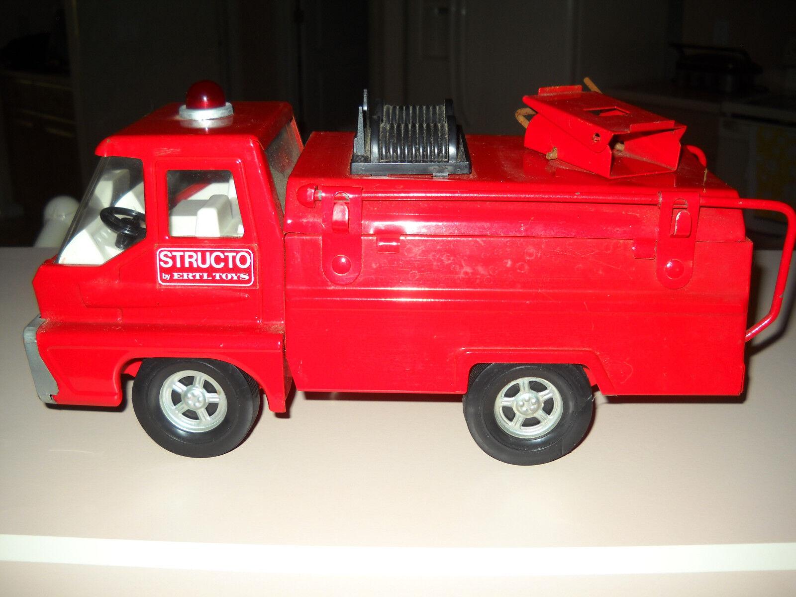 Raro 1966 Vintage Structo camión de bomberos por Ertl Juguetes -    Excelente Estado