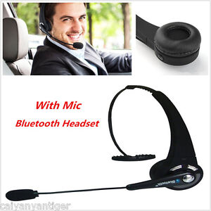wireless bluetooth headset handsfree with mic noise canceling car trucker driver ebay. Black Bedroom Furniture Sets. Home Design Ideas