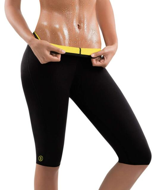 3dc9225aa2 Hot Shapers Women Sauna Fat Burn Capri Pants – High Waist Sweat Workout  Leggings