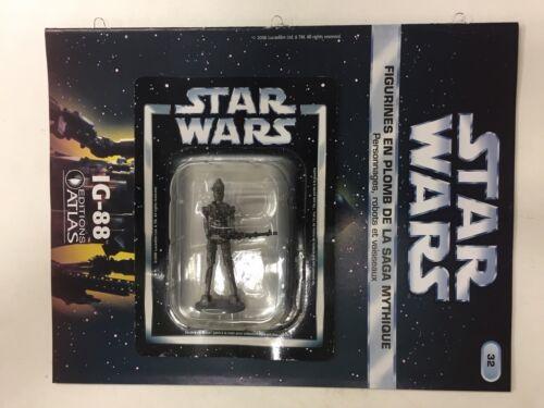 star wars figurine en plomb ig-88 n32//60 neuve blister fascicule atlas