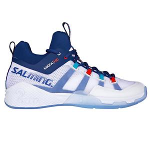 Salming Kobra MID 2 Indoor Herren Handballschuhe Knöchel weiss blau 1238077 0703