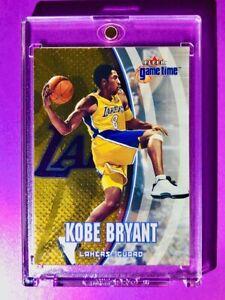 Kobe-Bryant-GOLD-FOIL-EMBOSSED-FLEER-GAME-TIME-2000-Rare-Card-Mint