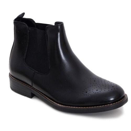 elásticos Ecoleather 82 piel 978 bordada Botines Zapatos para hombres sintética de 8txwXqzv7