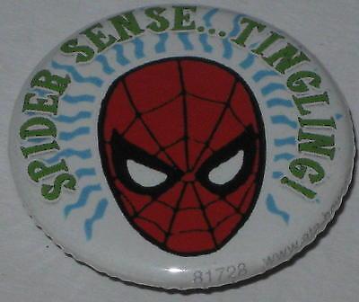 "Retro Spiderman ""Spider Sense...Tingling!""  Pin Licensed 1.25"""