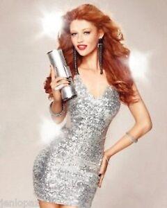 NWT-Sexy-bebe-white-silver-sparkling-sequins-v-neck-mesh-sexy-top-dress-XXS-00-0