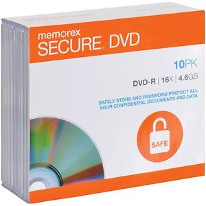 Memorex-16X-4-6GB-SECURE-DVD-R-with-AES-256-Bit-Software-Encryption-10-Pack