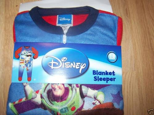 Size 18 Months Disney Toy Story Buzz Woody Pajamas Blanket Sleeper Footed New