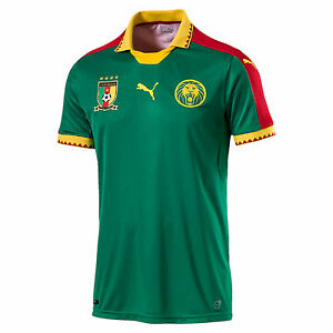 Puma Cameroon 2016 - 2017 DryCell Home Soccer Jersey Green   Red ... ac09b66c9