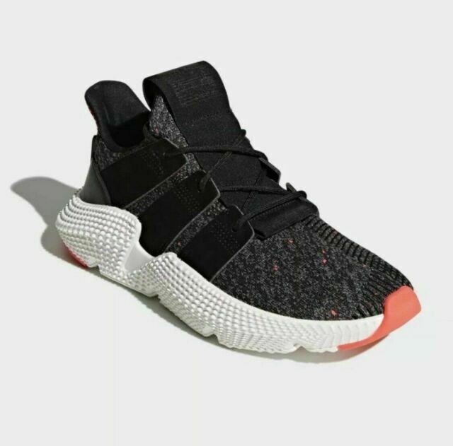adidas Originals Prophere Shoes for Men, Size 9 - Core Black/Solar Red