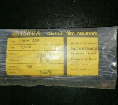 1//2 Watts ISKRA Carbon Film Resistor Tolerance 5/% OHMS 62 K
