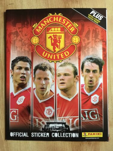 Panini Manchester United 20062007 Sticker Album Inc Poster Incomplete