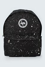 Hype Unisex Crest Embroidered Logo Black With White Speckle Backpack