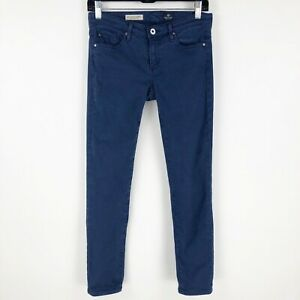 AG-Adriano-Goldschmied-The-Stevie-Ankle-Jeans-Slim-Straight-26-Blue-EUC
