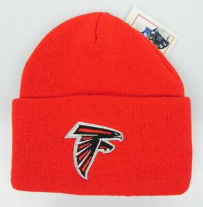 ATLANTA-FALCONS-NFL-FOOTBALL-VTG-RED-KNIT-CUFFED-BEANIE-WINTER-CAP-HAT-NEW