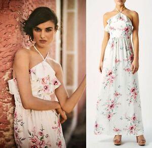 Summer Occasion Halterneck Lucille Dress Avorio Monsoon £ Size Boho Maxi 129 16 IBwHnq6a