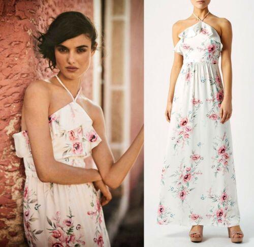 Halterneck Summer Maxi Lucille Boho 16 Occasion Monsoon 129 Dress £ Size Avorio IYxOnwq1