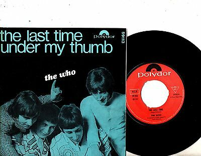 THE WHO 7 PS The Last Time NORWAY SUPER RARE POL 59113 ALTERNATIVE BACK COVER 45