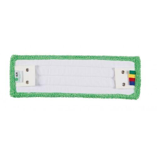 Frange de lavage microfibre verte à languettes 40 cm pour support à plat cassant