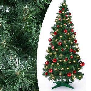 Albero-di-Natale-POP-UP-150-cm-con-Luci-LED-50X-Bianco-Caldo-e-40-Palline-Rosse