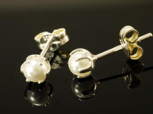 925 Silber Süsswasser Perlen Ohrstecker gestempelt 1 Paar 4,8 mm