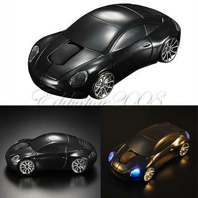 New 2.4GHz Car Shape 1600DPI Wireless Optical Mouse/Mice +2.0 USB Receiver BlACK