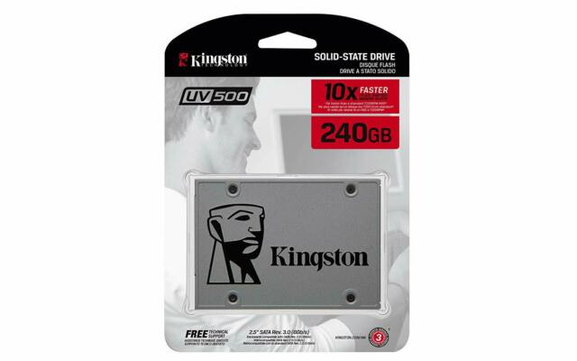 "Kingston SSDNOW UV500 240GB SSD 2.5/"" 3D NAND SATA III 240G SUV500//240G Retail"