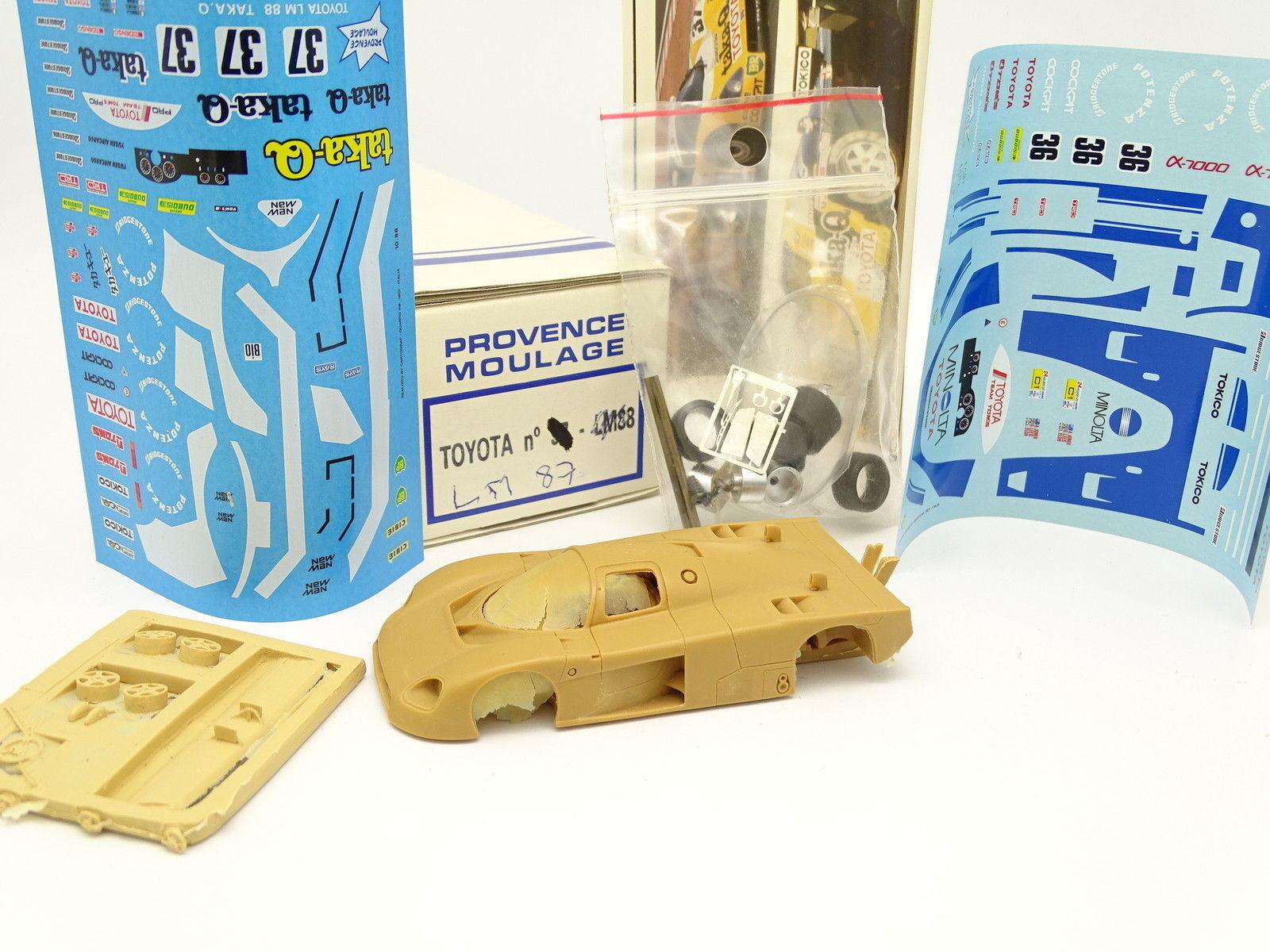 Provence Moulage Kit à Monter 1 43 - Toyota 87C Le Mans 1987 N°36 et 37