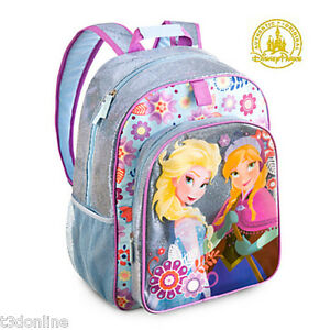 9493761c5447 GENUINE DISNEY FROZEN ANNA   ELSA BACKPACK GIRL KIDS SCHOOL BAG ...