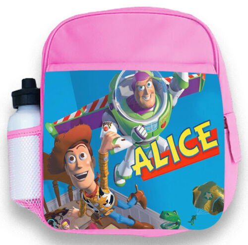 Personalised Kids Pink Backpack Any Name Toy Story Girls Childrens School Bag 1