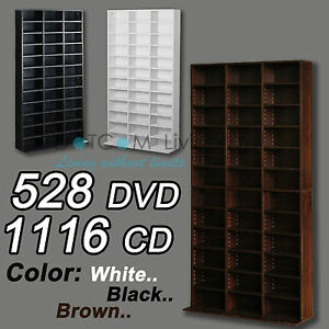Image Is Loading 1116 CD 528 DVD Storage Shelf Rack Unit