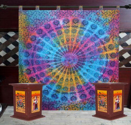 Indian Mandala Hippie Wall Drapes Bohemian Room Door Window Curtains Home Decor