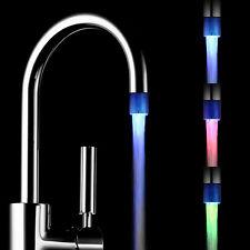 Temperatursensor Küche Bad 3 Farben Leuchtender LED Licht Wasserhahn ABS