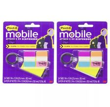 Post It 2 Pack 3m Attach Amp Go Tab Dispenser Keychain Sticky Note Flags Office