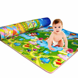 Extra Large Crawl Mat Baby Kid Toddler Playmat Waterproof 2 Side Play Carpet
