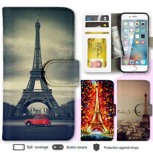iPhone-8-7-Plus-6s-Case-Paris-Eiffel-Tower-Print-Wallet-Leather-Cover-For-Apple