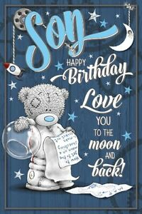 Surprising Son Happy Birthday Medium Tatty Teddy Me To You Bear Birthday Personalised Birthday Cards Cominlily Jamesorg