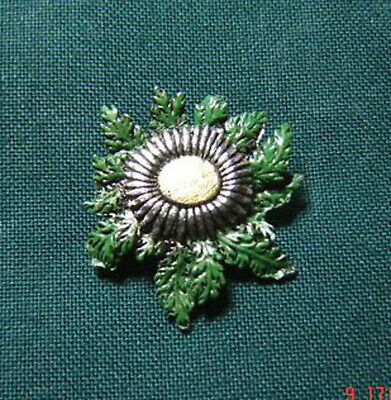 Anstecknadel Distel Silberdistel handbemalt Trachtenschmuck Hutabzeichen | eBay