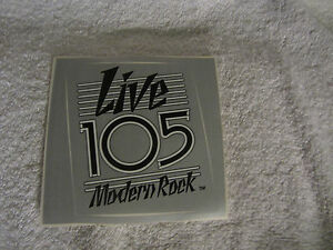 Details about LIVE 105 Modern ROCK 105 3 FM RAdio Sticker Decal San  Francisco - Vintage 80's