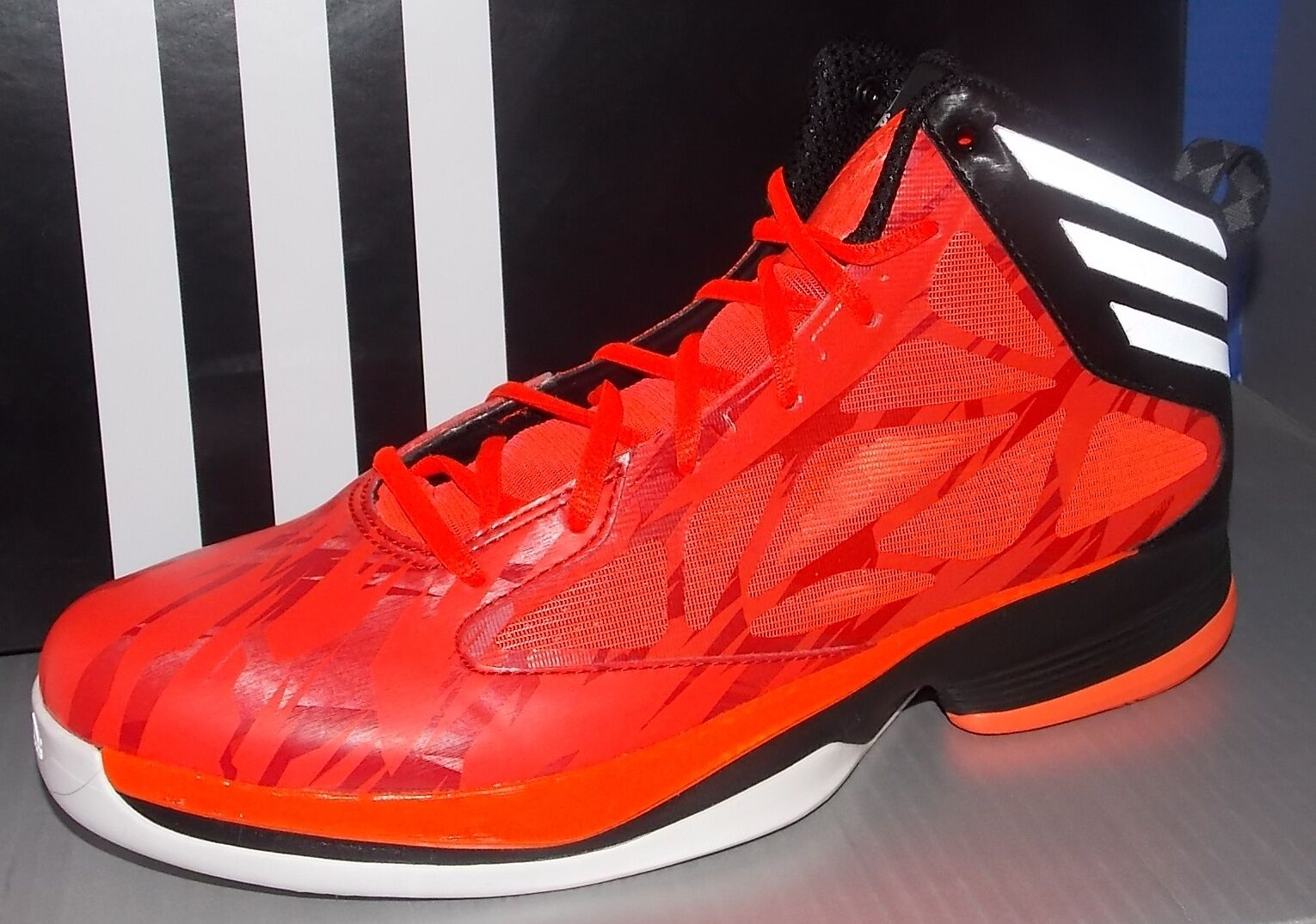 MENS ADIDAS CRAZY FAST in colors INFRA RED   RUNNING WHITE   BLACK SIZE 11.5
