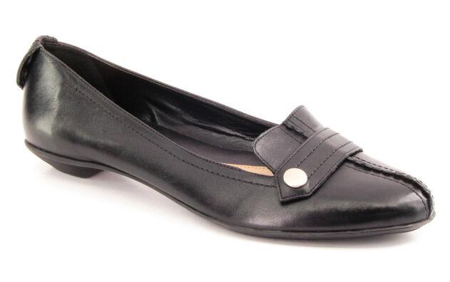 Nuevo Hush Puppies Mujeres Mujeres Mujeres Negro Cuero Tacón Bajo Sin Cordones Mocasín Zapatos Planos Talla 9 M  Tienda de moda y compras online.
